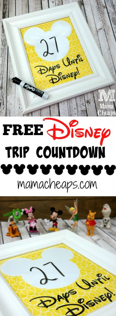 Free Disney Trip Countdown Print