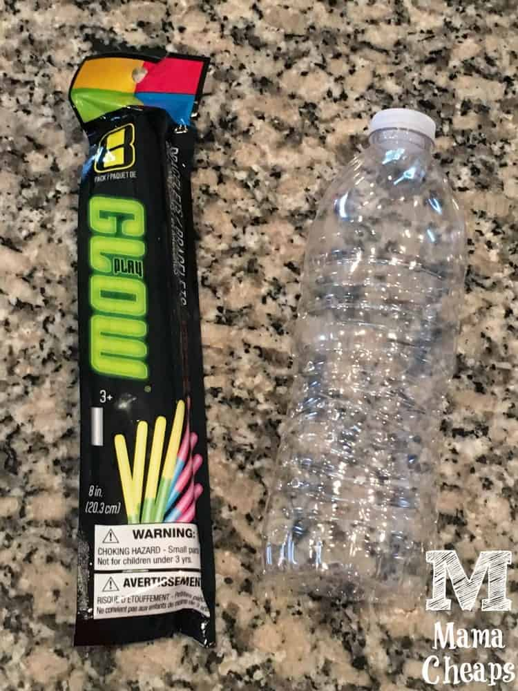 Glow Sticks and Water Bottle