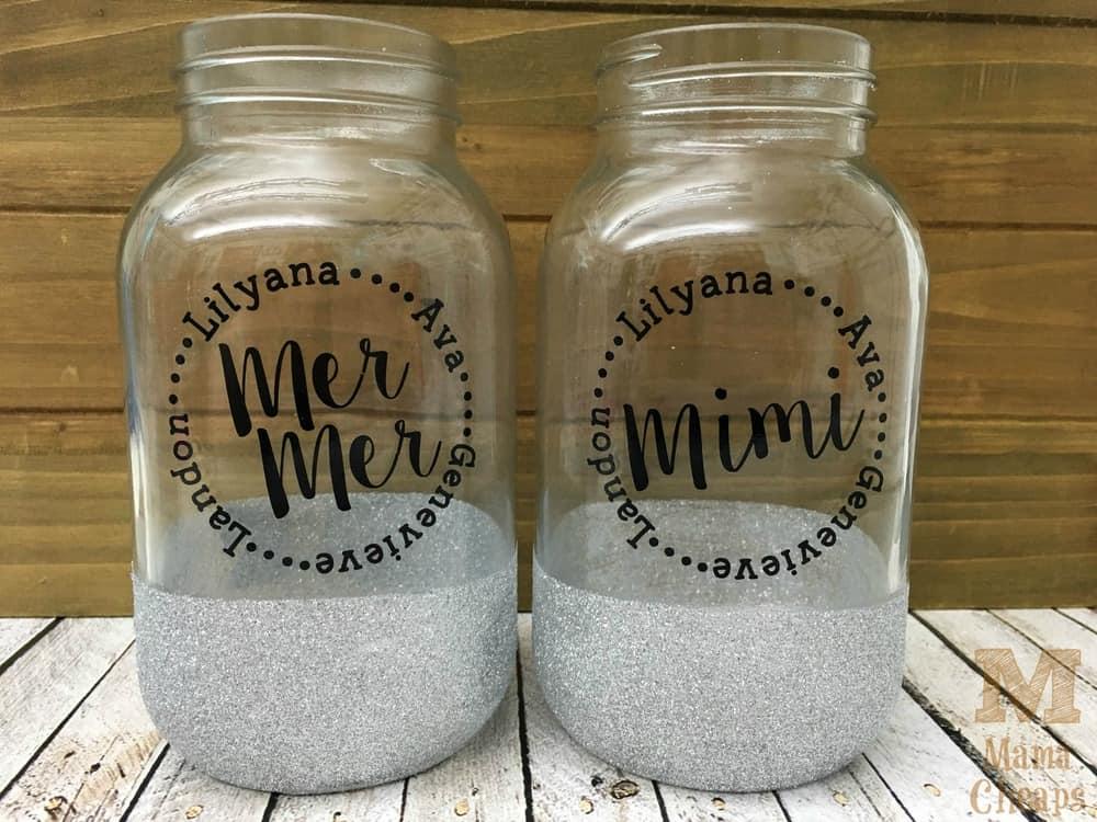Grandma Glitter Jar Gift