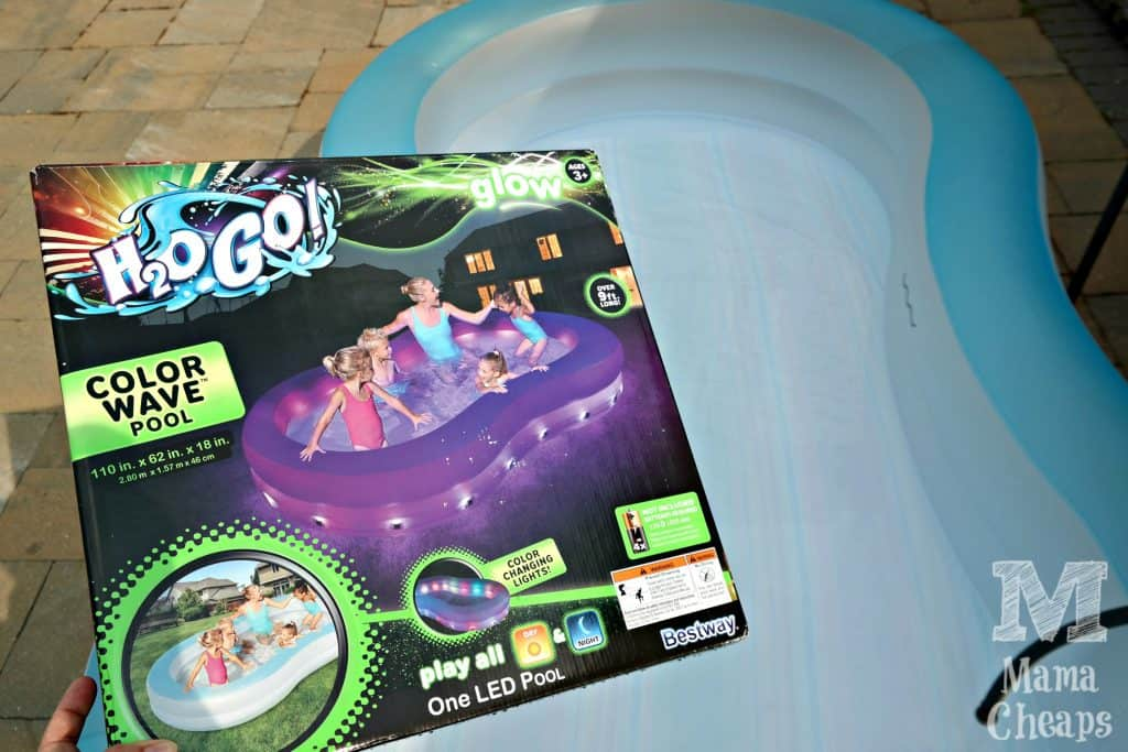 H2OGo Color Wave Pool Out of Box