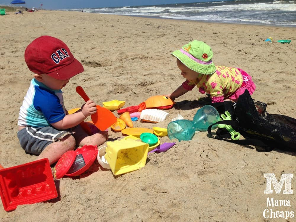 Kids on Beach Outer Banks