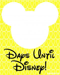 Mickey Disney Trip Countdown Free Print