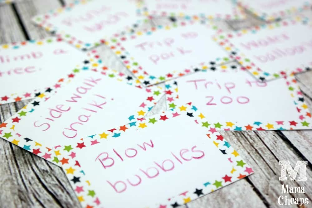 Summer Bucket List Cards Filled Out
