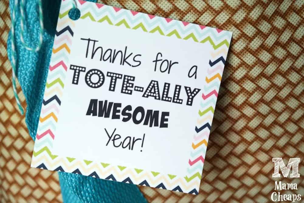 Teacher Gift Tote Tag