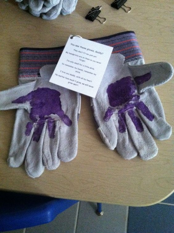 Work glove handprints