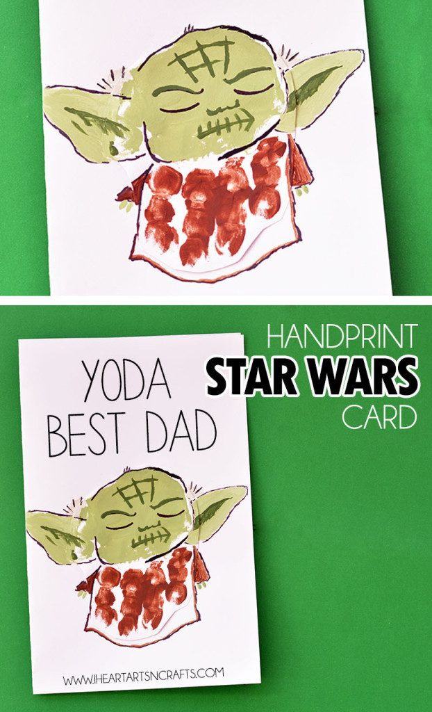 yoda best dad handprint