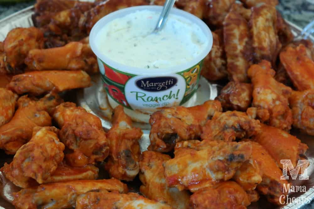 Perdue Chicken Wing Platter with Marzetti Ranch Veggie Dip