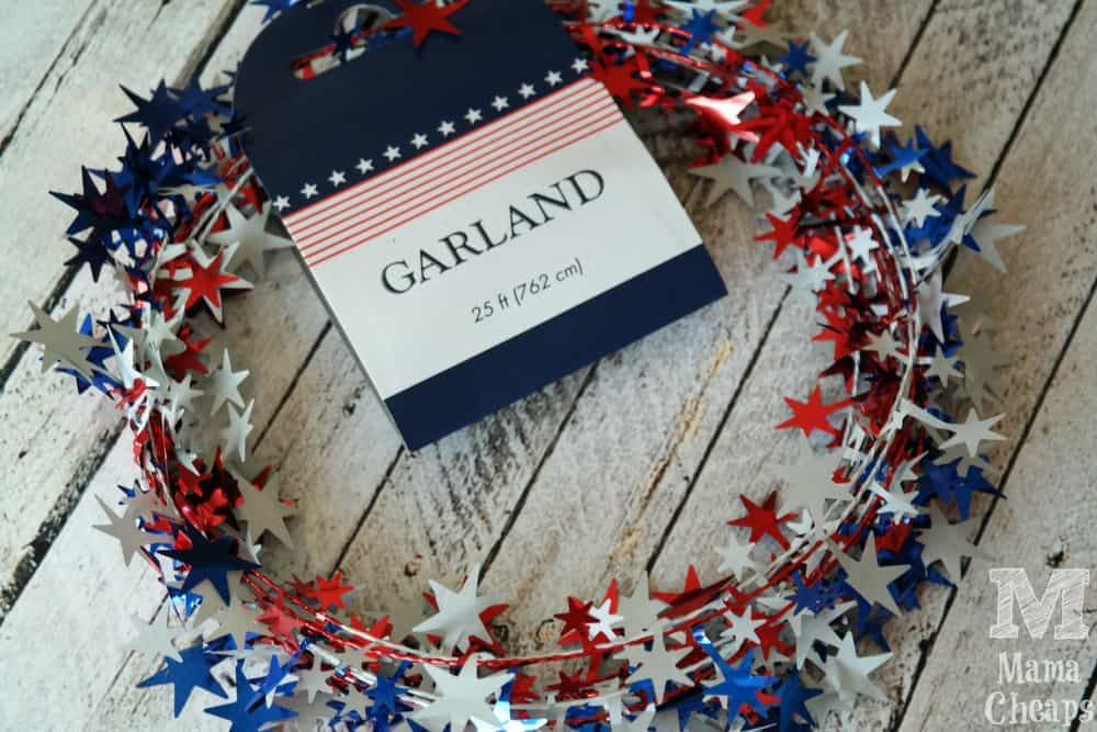 Dollar Tree Patriotic Garland