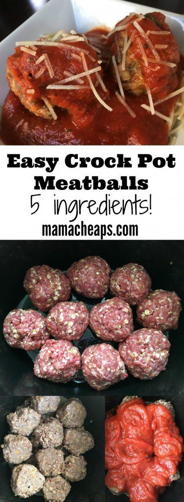 Easy Crock Pot Meatballs