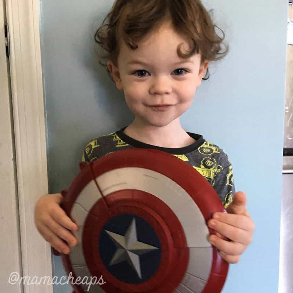 Landon Captain American NERF Shield