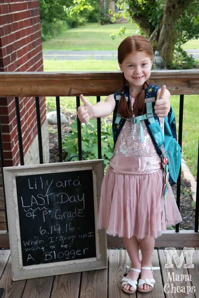 Lily Last Day of School Chalkboard