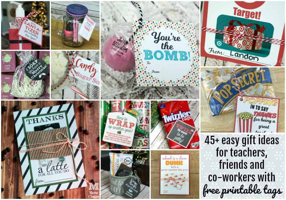 picture regarding Free Printable Teacher Gift Tags referred to as 45+ Very simple Trainer Present Options with No cost Printable Tags Mama