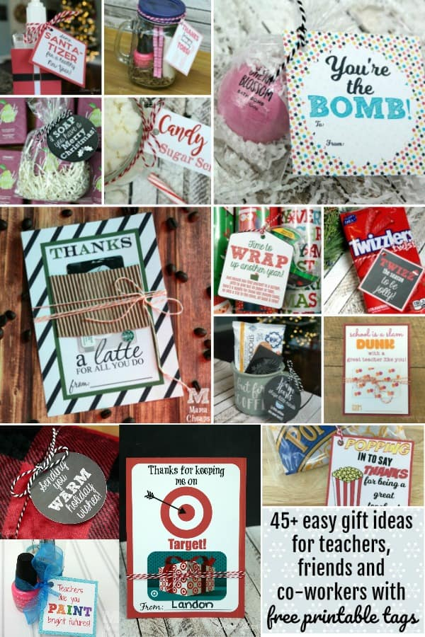 easy teacher gift printables