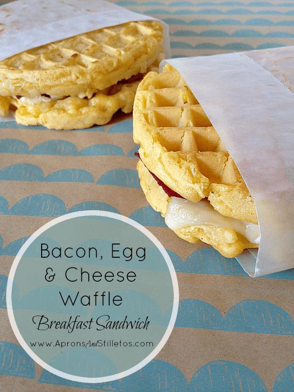 Aunt Jemima Bacon, Egg & Cheese Waffle Breakfast Sandwich 4