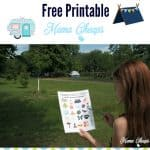 Campground I Spy Free Printable Game