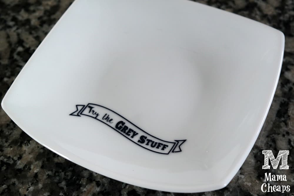 DIY Be Our Guest Grey Stuff Plate