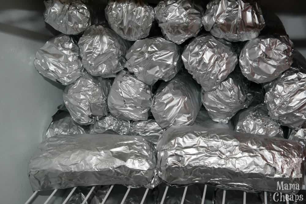 Hoagies in Freezer