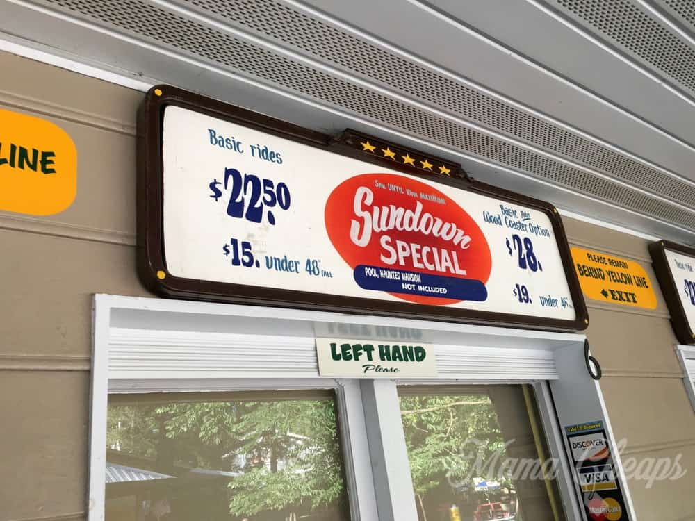 Knoebels Sundown Special Twilight Admission Discount