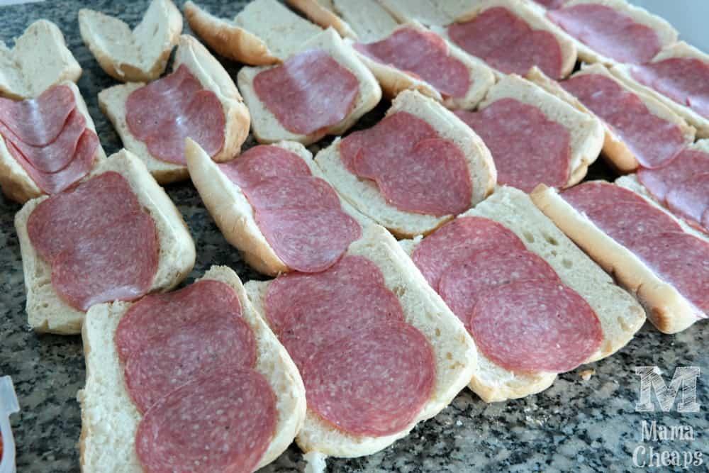 Salami on Hoagie Roll