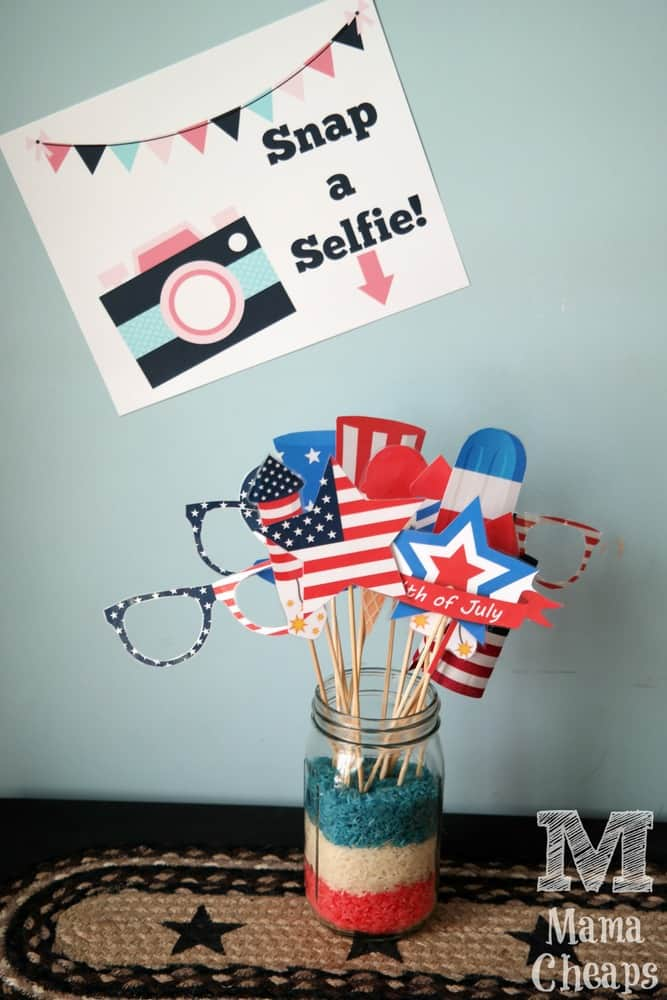 Snap a Selfie Sign Photo Booth Props