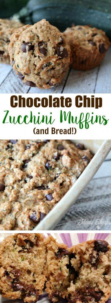 Chocolate Chip Zucchini Muffin Recipe