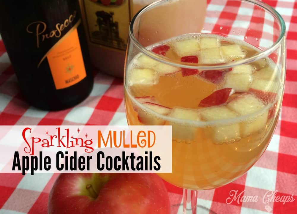 Sparkling Mulled Apple Cider Cocktails