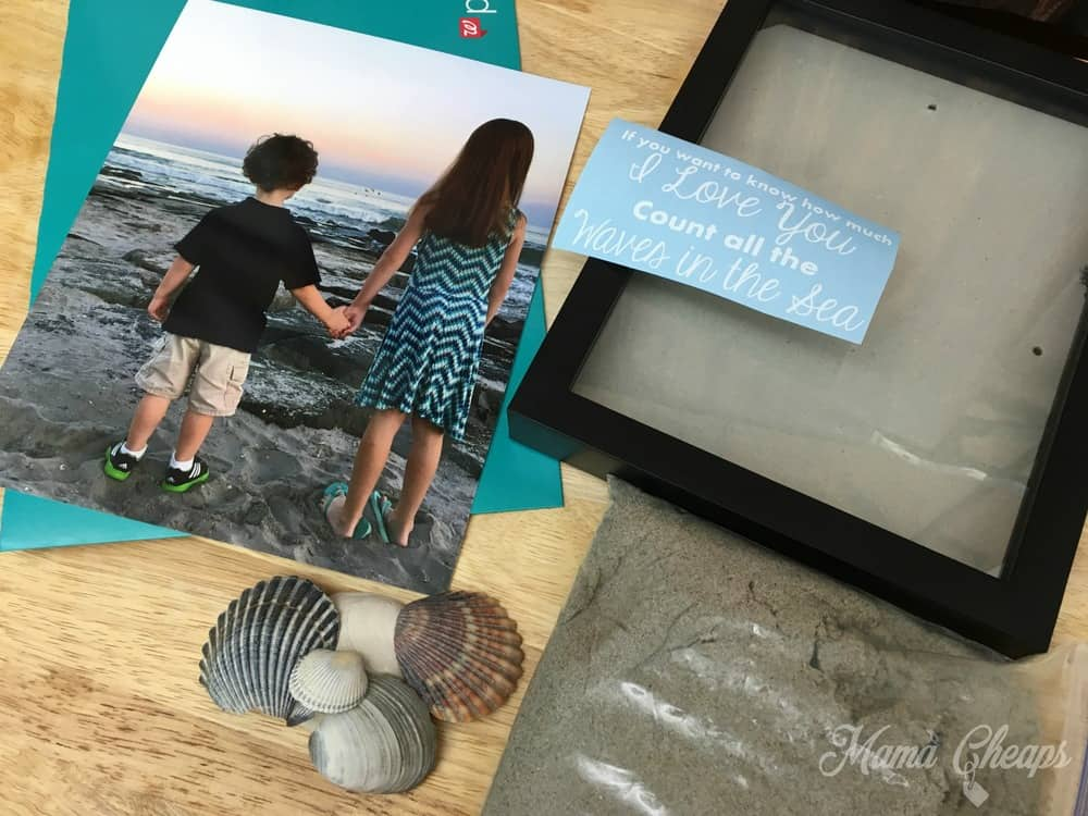 Beach Shadowbox Supplies