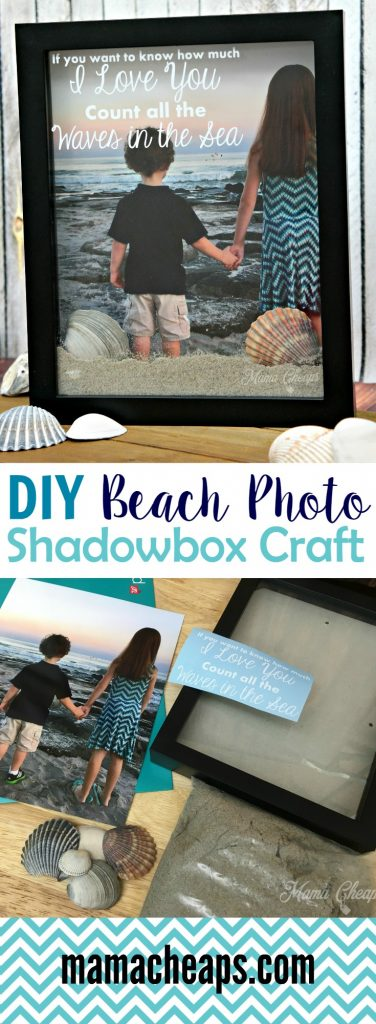 DIY Beach Photo Shadowbox Craft