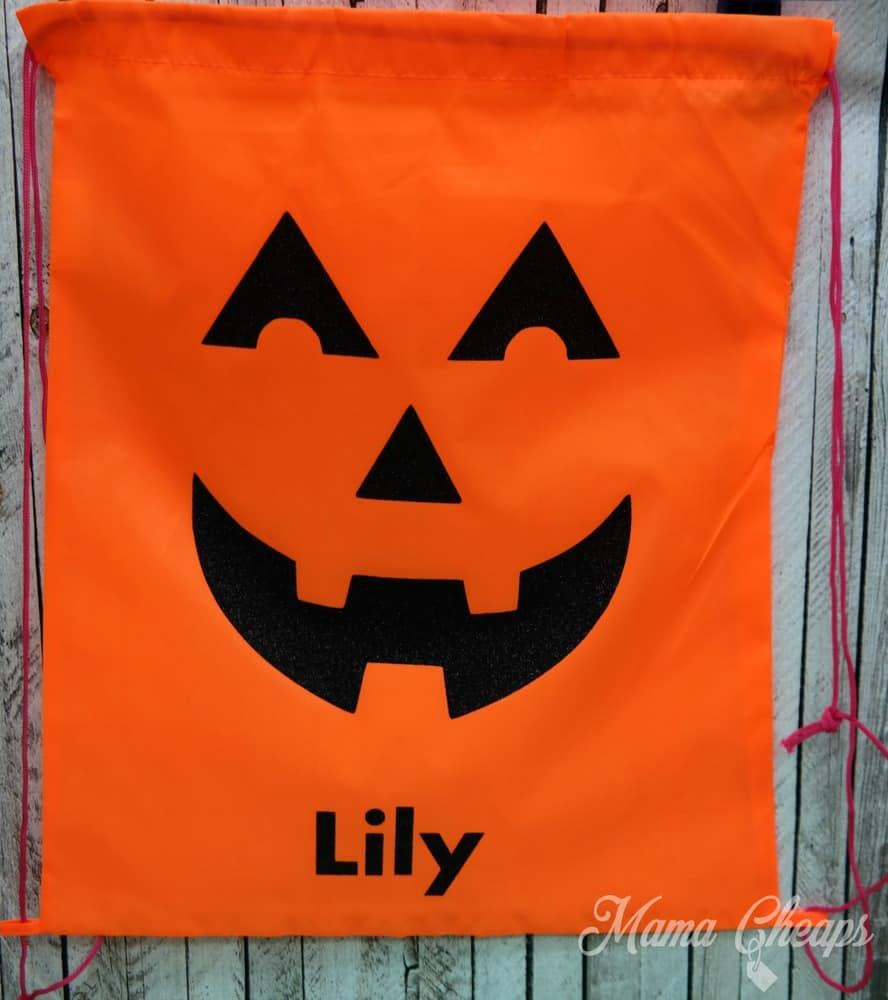 DIY Jack O Lantern Halloween Treat Bag