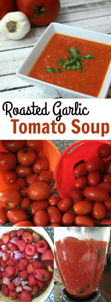 Roasted Garlic Tomato Soup for Fall