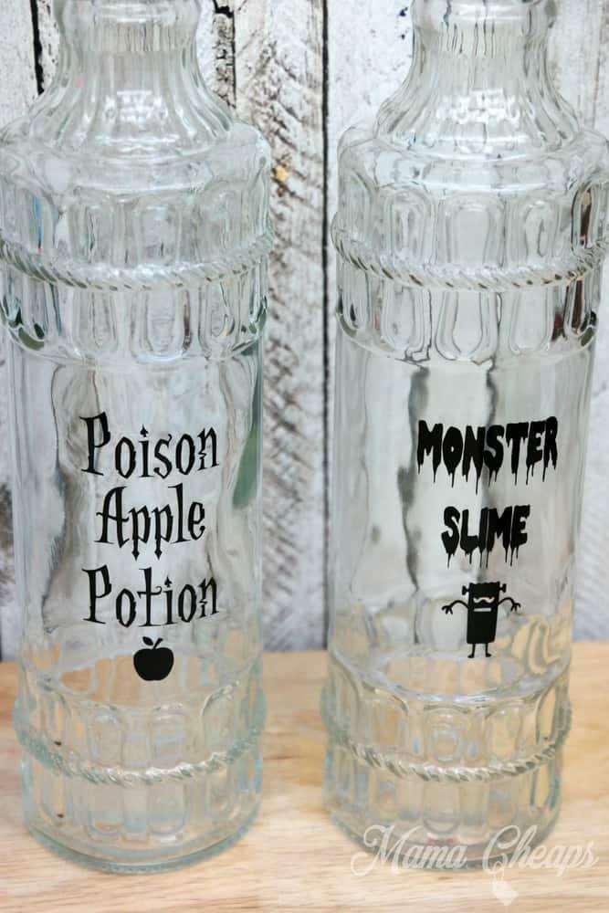 Spooky Bottles for Halloween