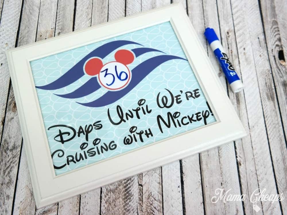 Disney Cruise Vacation Countdown Printable