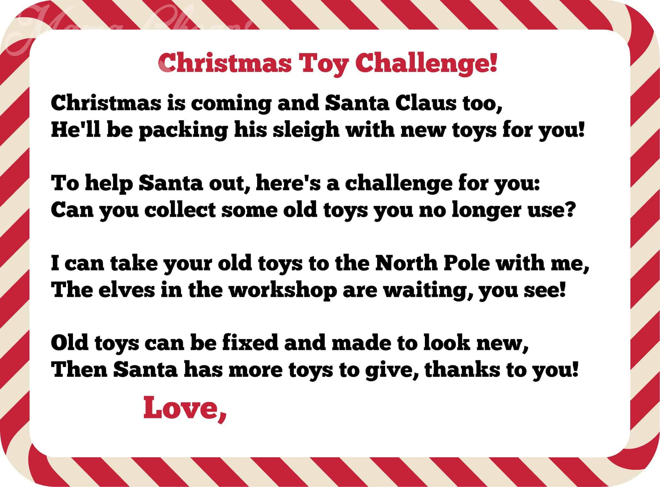 christmas toy challenge wm - Toy Donations For Christmas