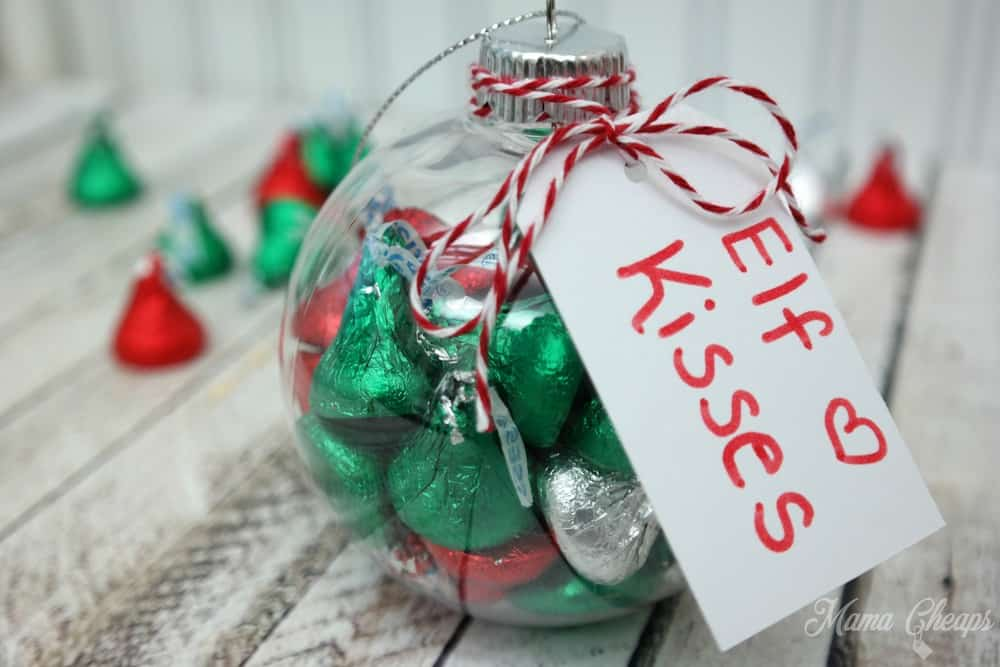 "DIY ""Elf Kisses"" Ornaments (Great for gifts or Elf on the Shelf ..."