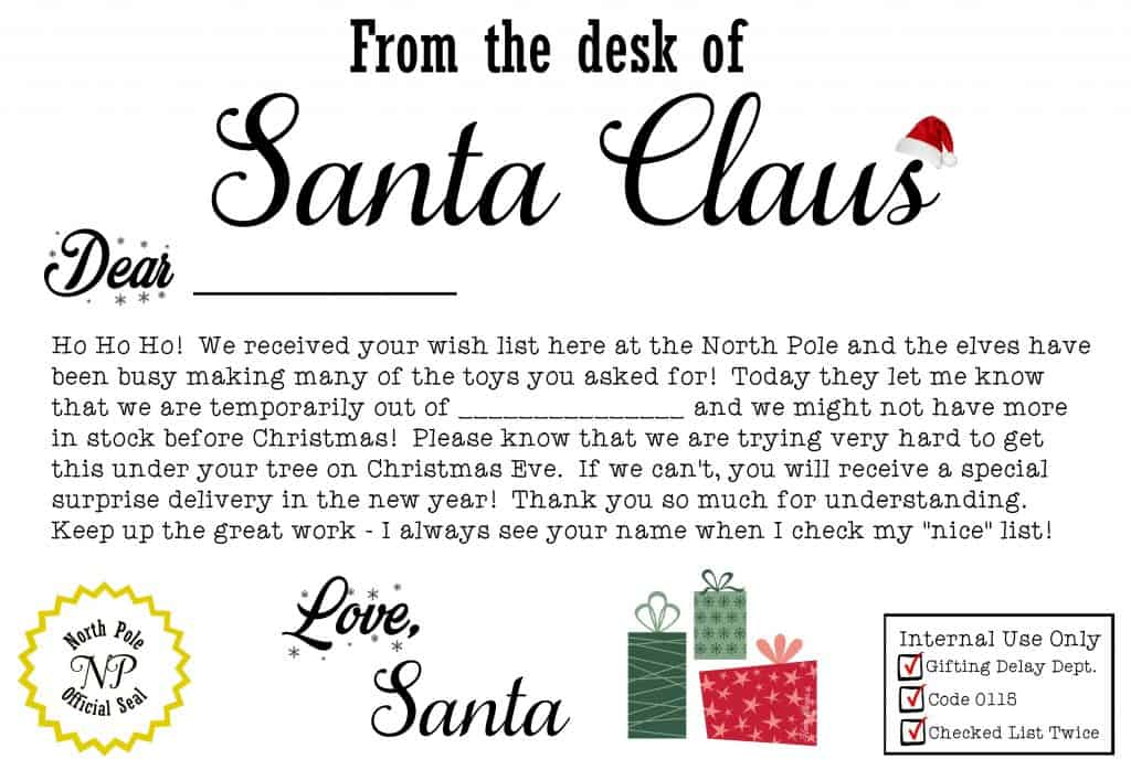 Astounding image with regard to free printable letters from santa