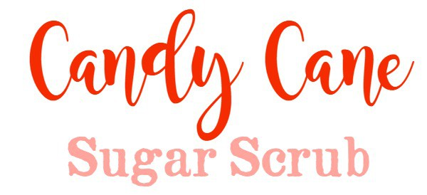 Candy Cane Sugar Scrub Tag