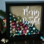 DIY Christmas Ornament Shadowbox