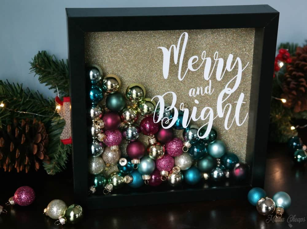DIY Christmas Ornament Shadowbox Tutorial