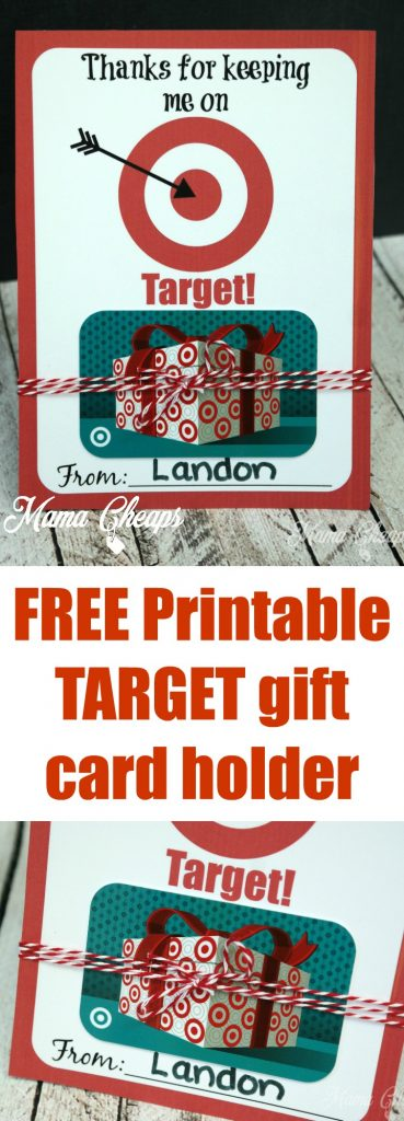 Free Printable Target Gift Card Holder from Mama Cheaps