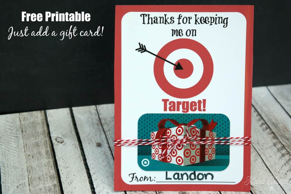 Target Gift Card Printable Card Holder