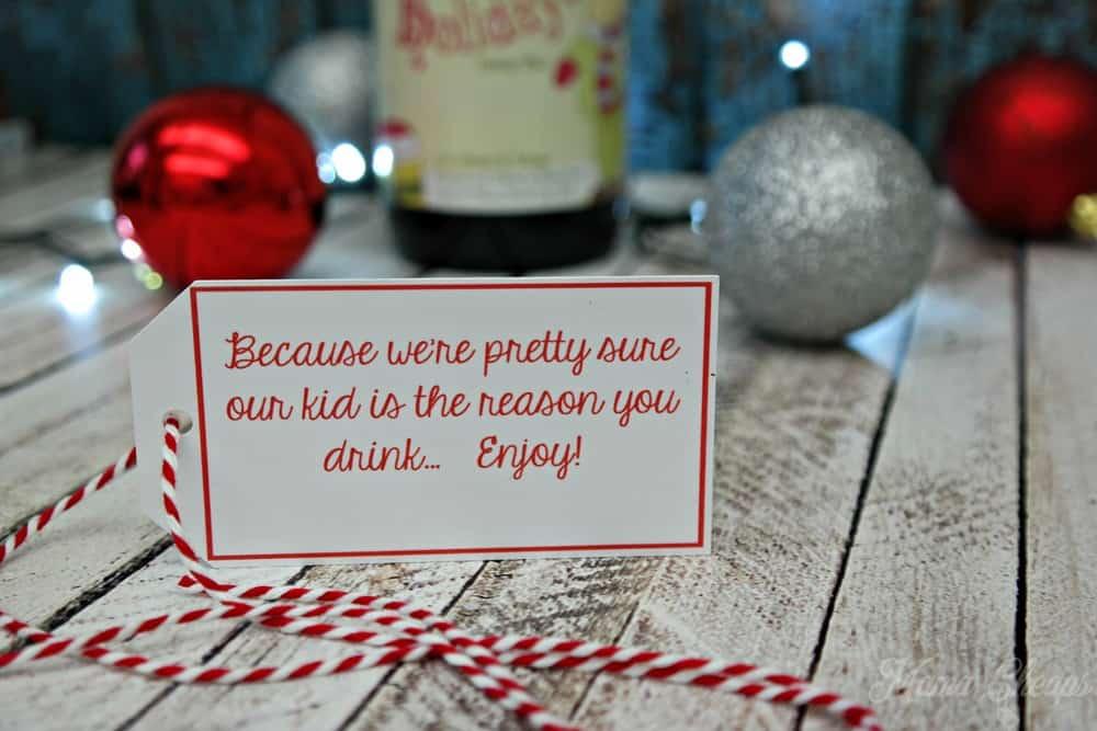 Teacher Wine Gift Tag