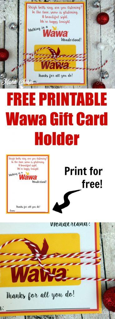 Wawa Gift Card Free Printable