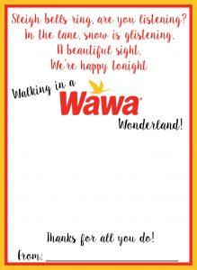 Wawa Holiday Gift Card Holder