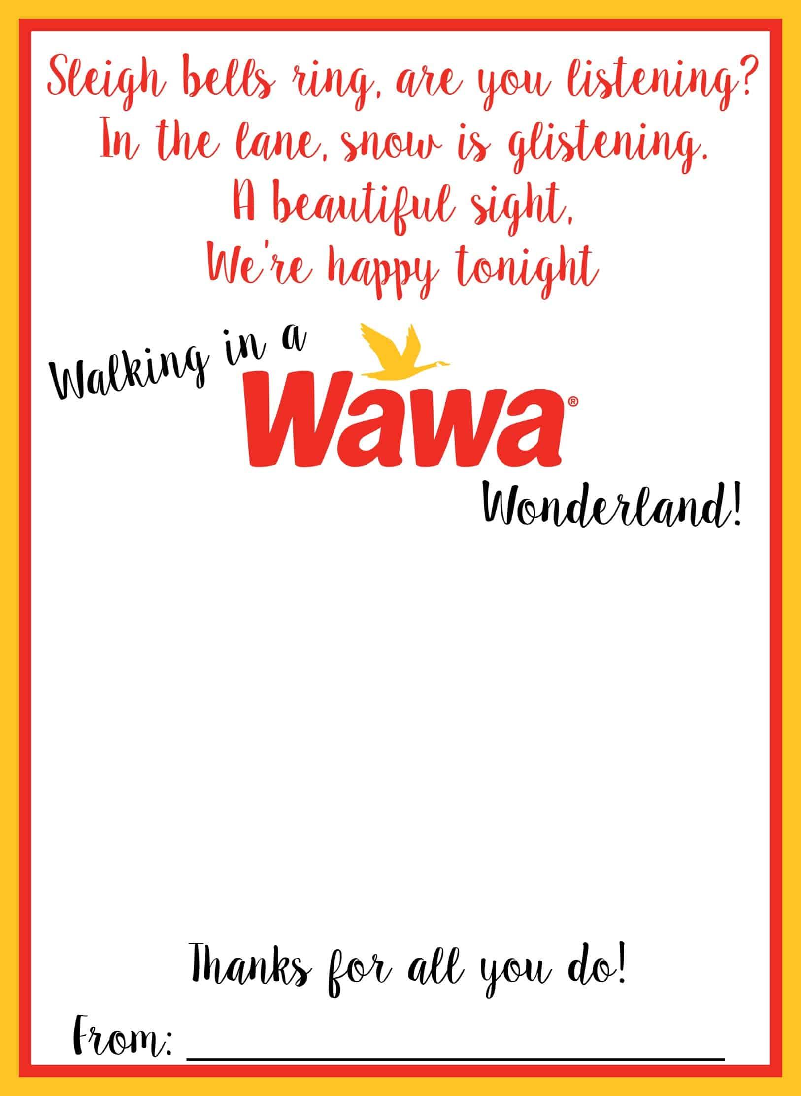 Wawa FREE Printable Holiday Gift Card Holder | Mama Cheaps