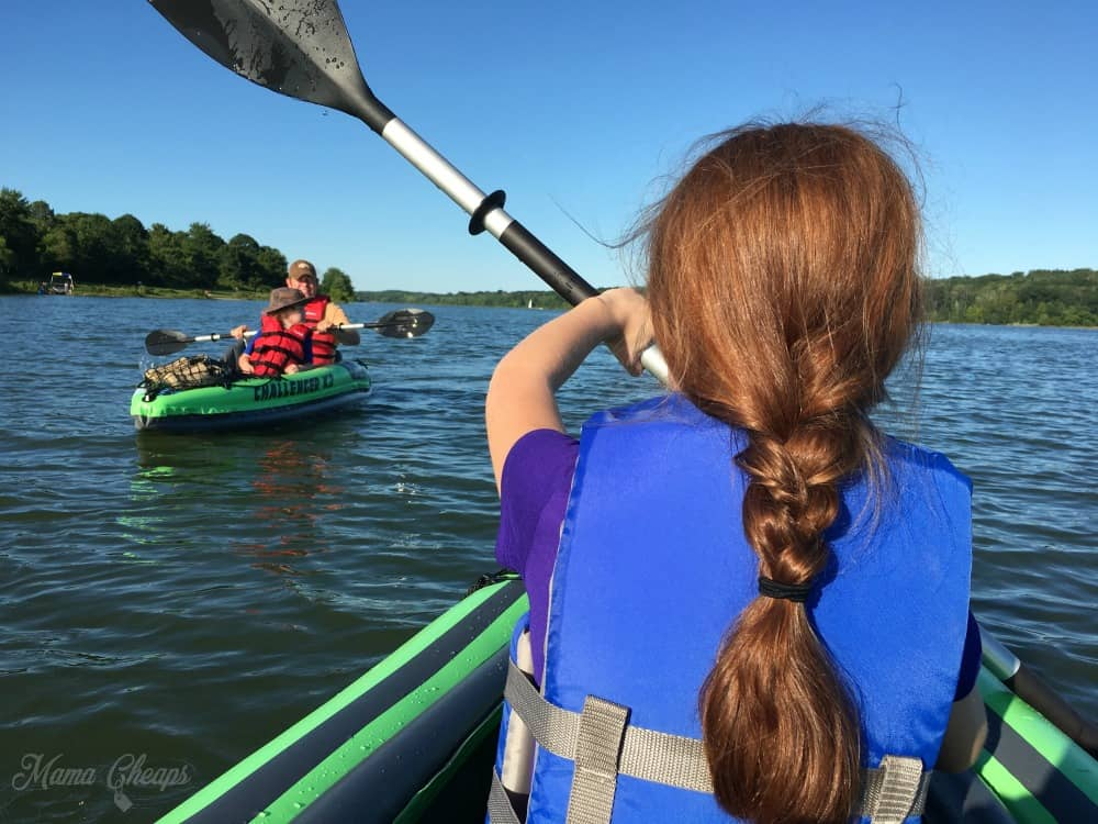 kayaks on lake galena