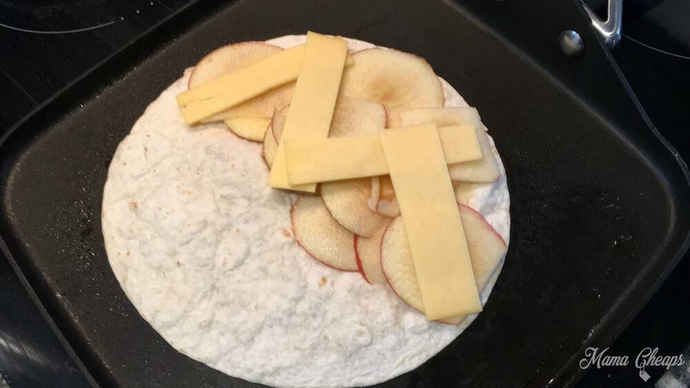 Apple Gouda Tortilla
