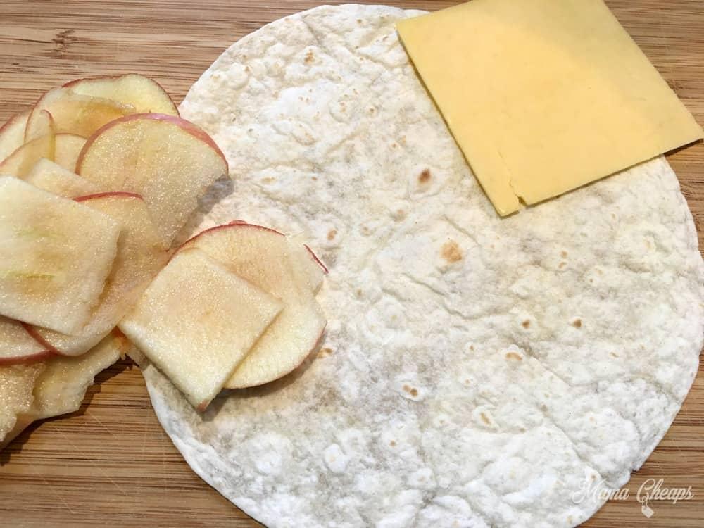 Apples Gouda Cheese Tortilla