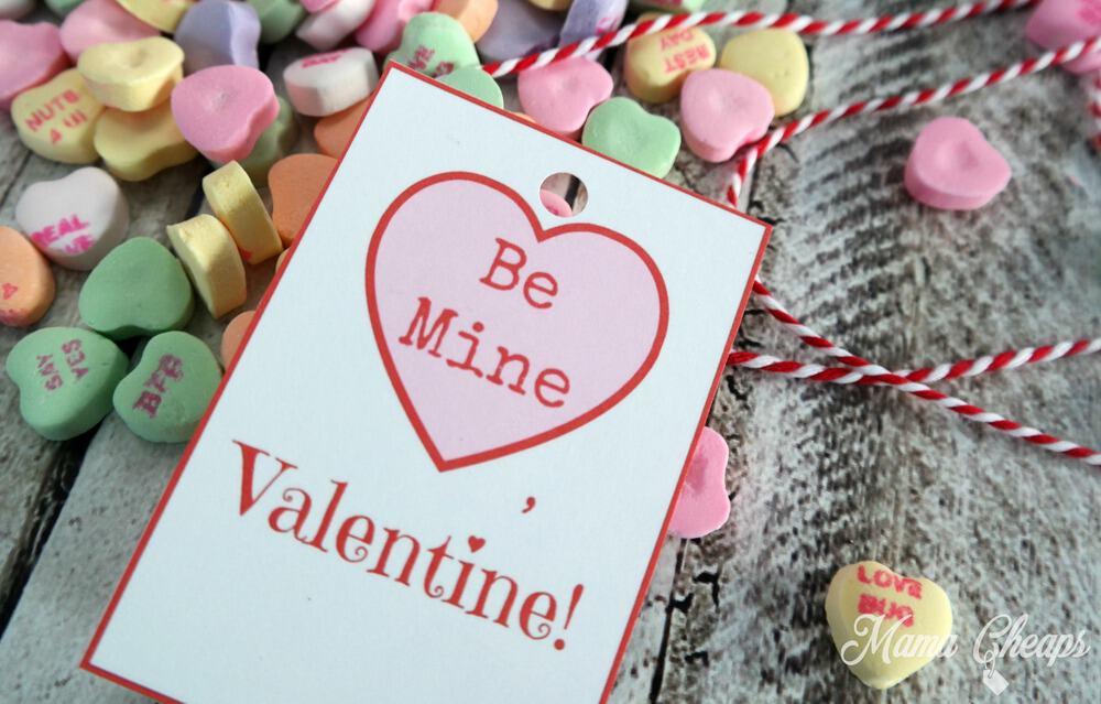 Be Mine Hearts Tag