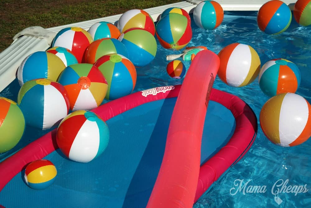 Beach Balls in Pool