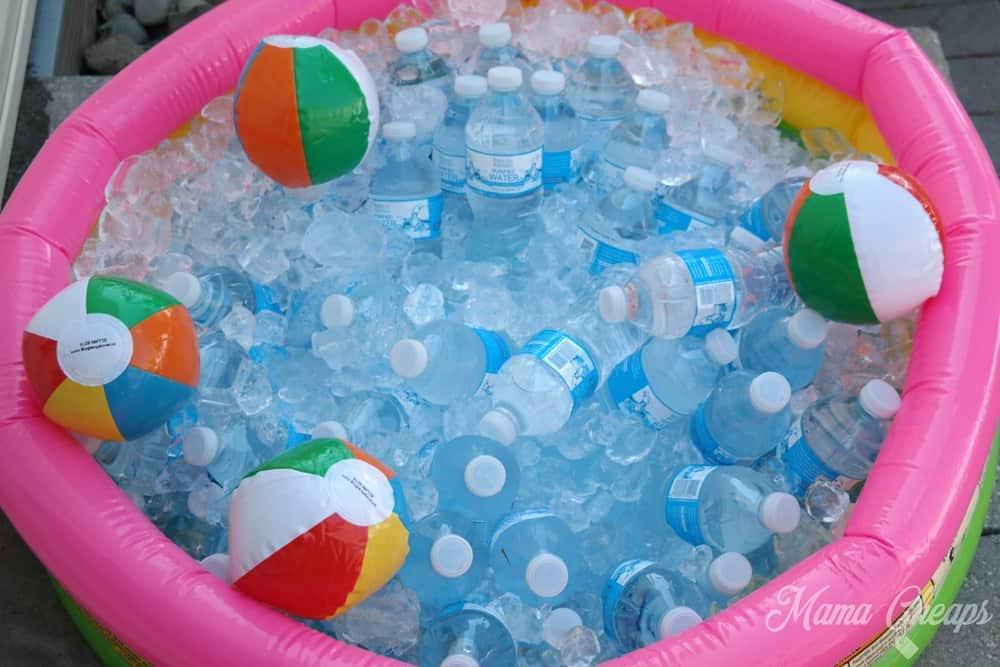 Bottled Water in Baby Pool